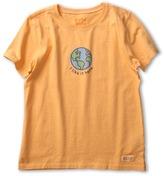 Life is Good Girls' Like It Crusher Tee (Little Kids/Big Kids) (Tangerine Orange) - Apparel