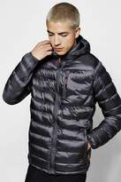 Boohoo Quilted Pannelled Puffer Jacket