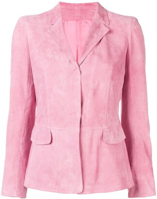 Sylvie Schimmel Fitted Suede Jacket