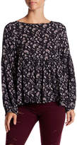 Soprano Floral Long Sleeve Blouse
