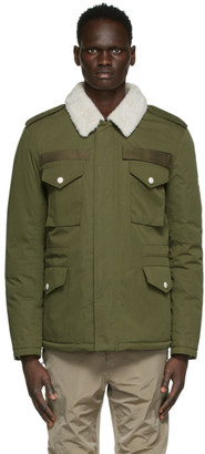 Army by Yves Salomon Yves Salomon - Army Green Down and Shearling Jacket