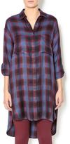 Gentle Fawn Plaid Shirt Dress