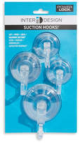 InterDesign Inc 4-Pack Assorted Suction Hooks
