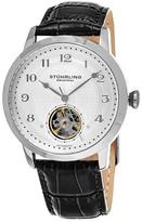 Stuhrling Original Men&s Perennial 781 Automatic Alligator Embossed Genuine Leather Watch
