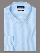 Autograph Pure Cotton Tailored Fit Striped Shirt