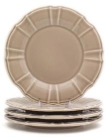 Chloé Euro Ceramica 4 Piece Taupe Salad Plate Set