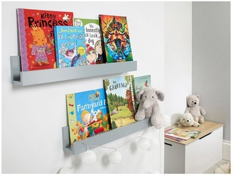 Lloyd Pascal Set of 2 Wall Mounted Kids Shelves - Grey