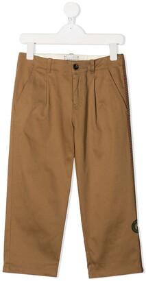 Gucci Kids Mid-Rise Chino Trousers