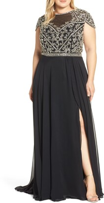 Mac Duggal Embellished Bodice A-Line Gown