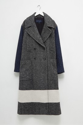 French Connection Ceri Mix Tweed Longline Pea Coat