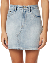 MinkPink Eye Spy A-line Mini Skirt Blue
