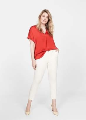 MANGO Violeta BY Studs sleeve blouse off white - 10 - Plus sizes