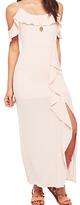 Miss Selfridge Petite Ruffle Maxi Dress, Pink