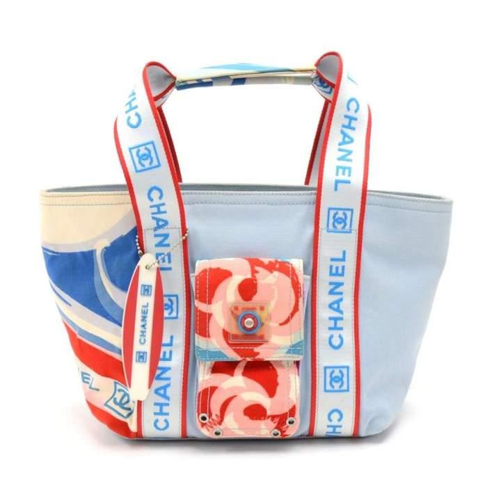 Chanel Blue Cloth Handbag
