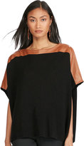 Ralph Lauren Leather-Trim Poncho