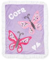 Boogie Baby Plush Butterfly Blanket, Light Purple