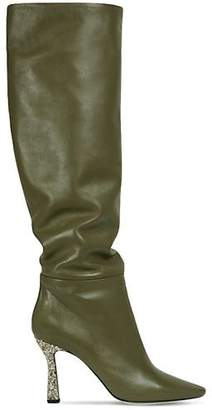 Wandler 95mm Lina Leather & Glitter Slouchy Boot