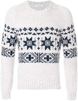 Cruciani intarsia cashmere jumper