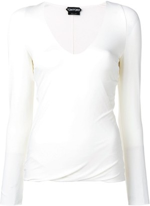 Tom Ford draped hem sweatshirt