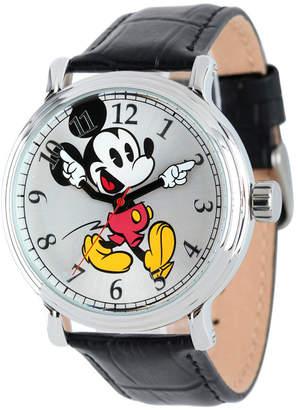 EWatchFactory Disney Mickey Mouse Men Shiny Silver Vintage Alloy Watch