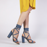 Public Desire Julia Heels in Denim