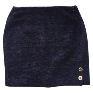 Claudie Pierlot Navy Tweed Skirt for Women
