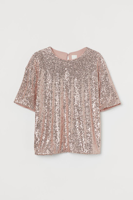 H&M Sequined Top - Pink