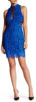 Astr Lace & Mesh Bodycon Dress