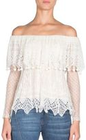 Alexander McQueen Off-The-Shoulder Silk Top
