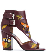 Laurence Dacade embroidered sandals - women - Calf Leather/Leather - 37