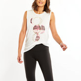Lucy Graphic Tank-moon With Foil