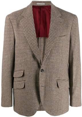 Brunello Cucinelli houndstooth blazer