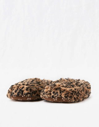 aerie Warmies Leopard Slippers
