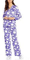 Karen Neuburger Holiday Bear Microfleece Pajamas & Socks Set