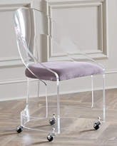 Interlude Mabel Nickel-Trimmed Acrylic Chair