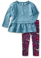 Tea Collection Toddler Girl's Butterfly Wings Peplum Top & Leggings Set