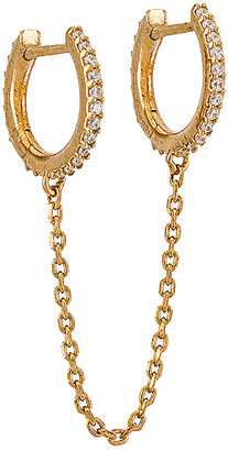 BaubleBar Chained 18k Gold Vermeil Double Huggie