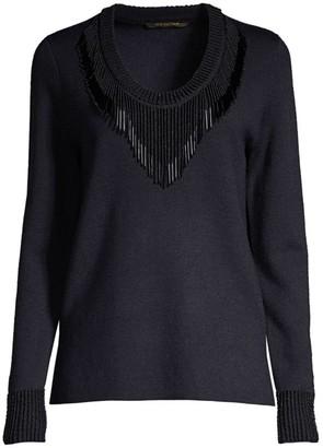 Kobi Halperin Delia Beaded Fringe Sweater