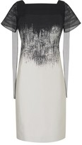 Amanda Wakeley Brushstroke Black & Pearl Jacquard Degrade Dress
