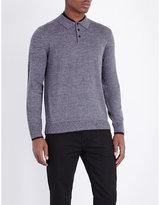 The Kooples Contrast-trim Wool Top