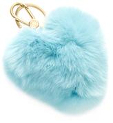 Furla Bubble Heart Pom Pom Keyring