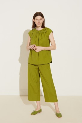Mansur Gavriel Sleeveless Cotton Top - Grass