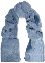 Acne Studios Olina Patchwork Wool-blend Scarf - Blue