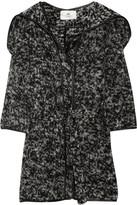 Hooded wool-blend cardi-coat