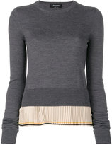 Rochas pleated hem jumper - women - Silk/Virgin Wool - 40