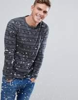 Esprit Xmas Sweater With Reindeer Stripe