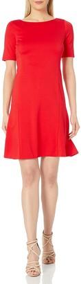 Ellen Tracy Women's Size Elbow Sleeve Flounce Dress