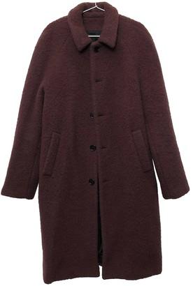 MSGM Burgundy Wool Coats