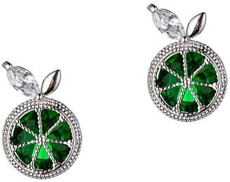 Eye Candy La Luxe Butterfly Silvertone & Crystal Stud Earrings