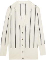Lanvin Striped Knitted Cardigan - Ivory